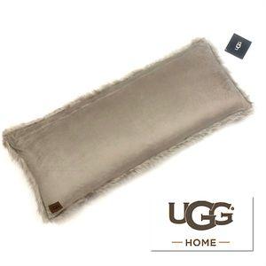 UGG Harlow Jacquard Faux Fur Lumbar Pillow